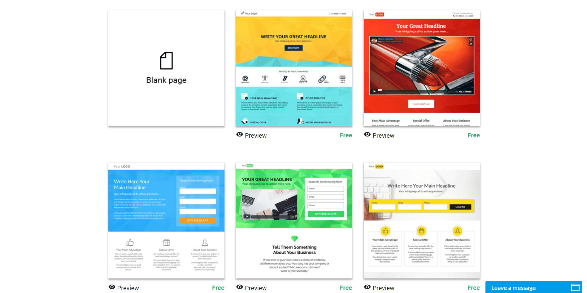 Les meilleurs créateurs de pages d'accueil pour mobiles
