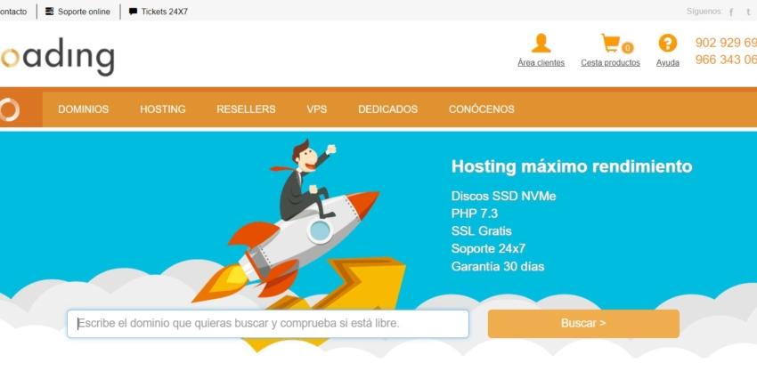 loading main page