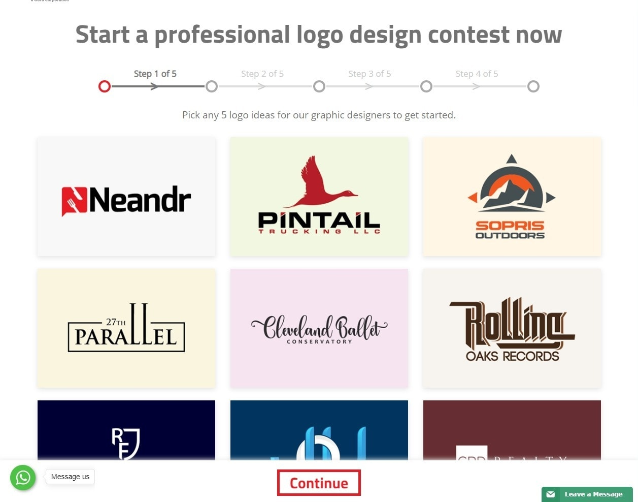 Logo Design Guru screenshot - logo samples