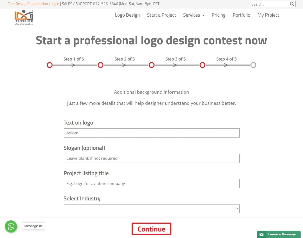 Logo Design Guru screenshot - logo details