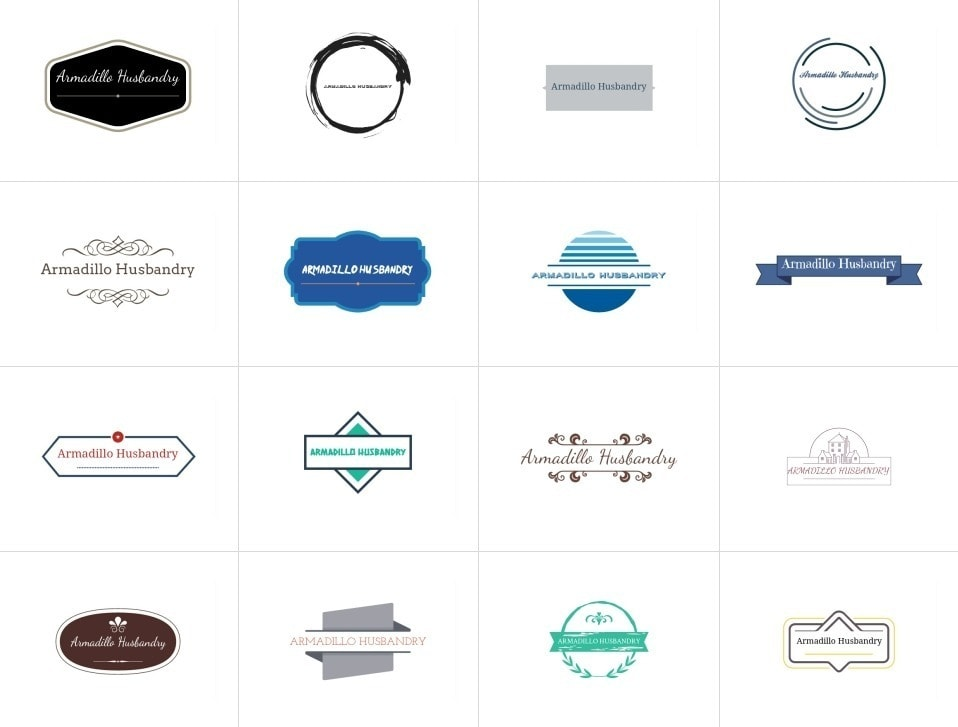 Examples of badge-style logos