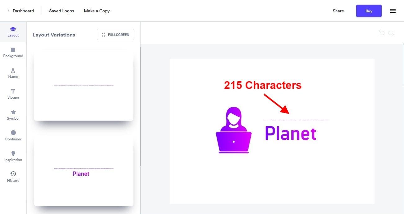 Looka Logo Maker – χωρίς όριο χαρακτήρων