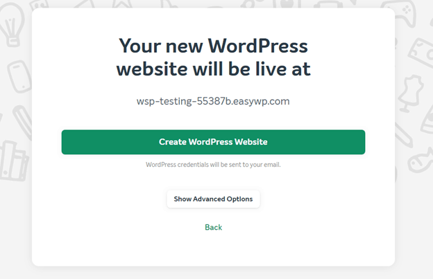 Installing WordPress using Namecheap and EasyWP