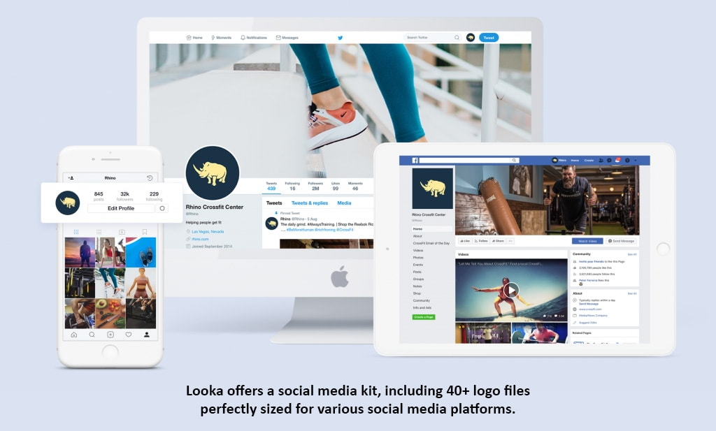 Looka logo social media kit