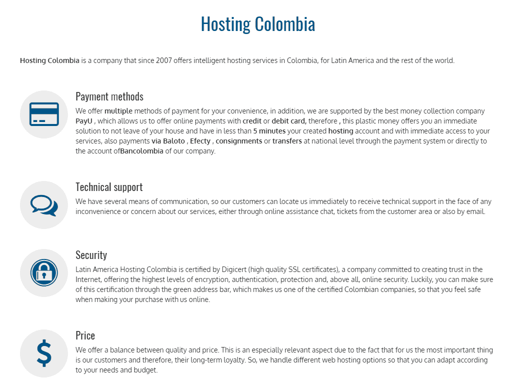 Latinoamerica Hosting Colombia