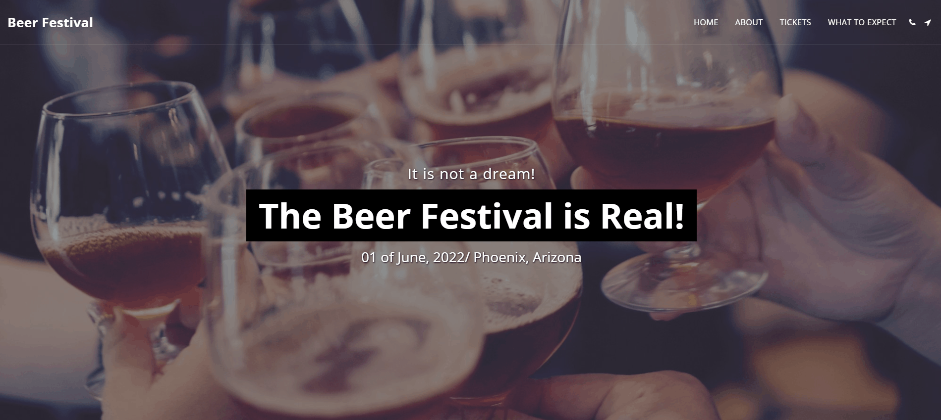Site123 Beer Festival template