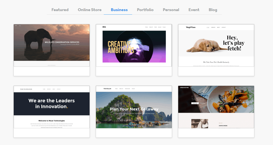 Weebly business themes