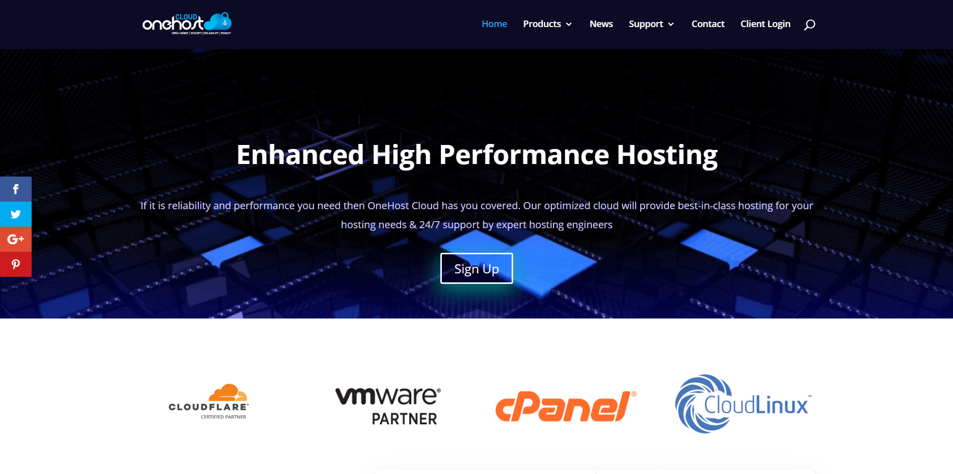 OneHost Cloud Main page
