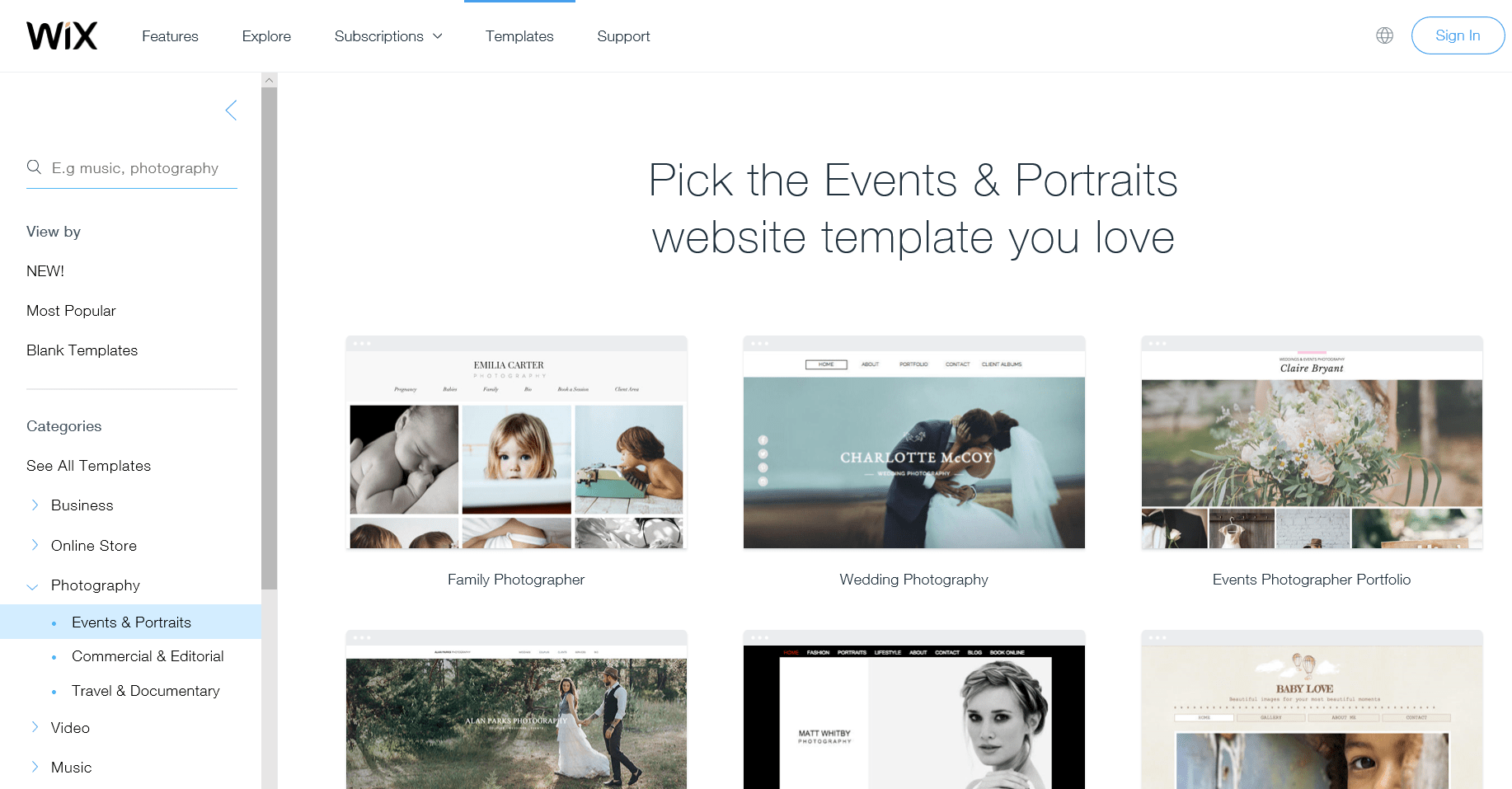Wix Template Themes – Choosing the Best One for Your Website