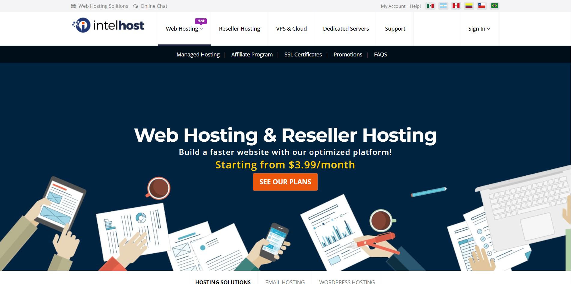 Intelhost Main Page