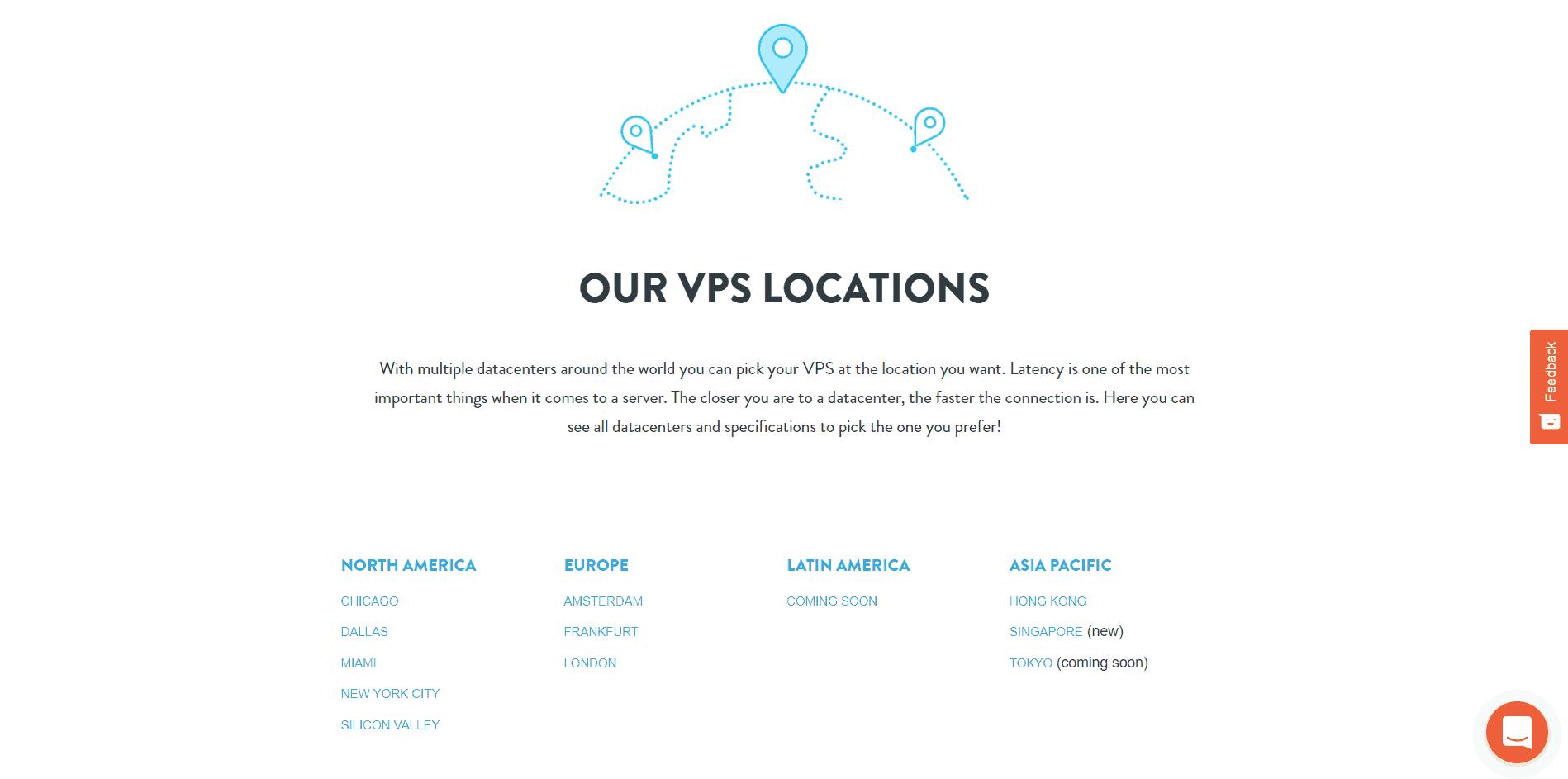 VPSServer Locations