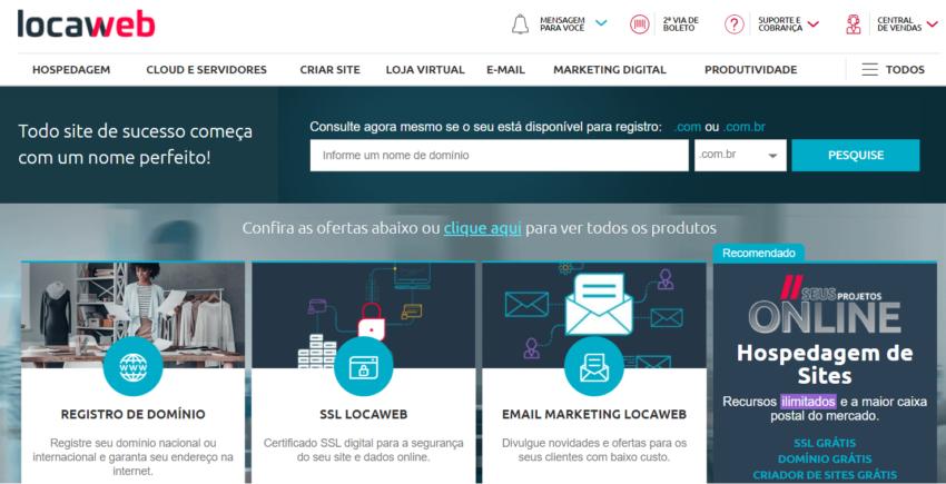 Locaweb produtos