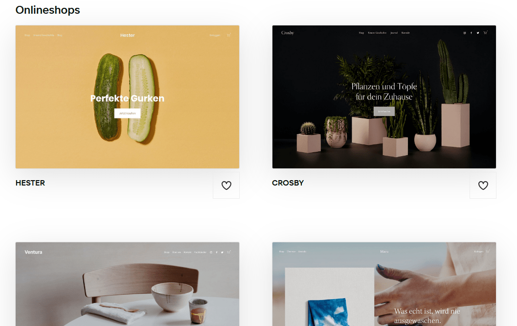Squarespace e-commerce templates