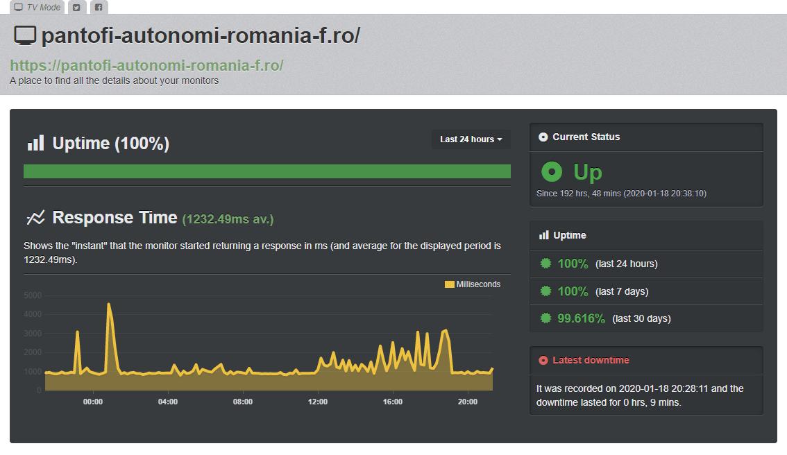 Uptime server HostVision