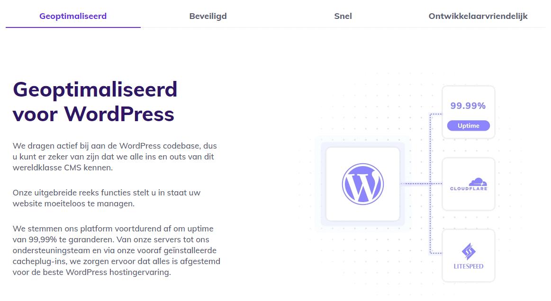 Hostinger's optimized WordPress hosting
