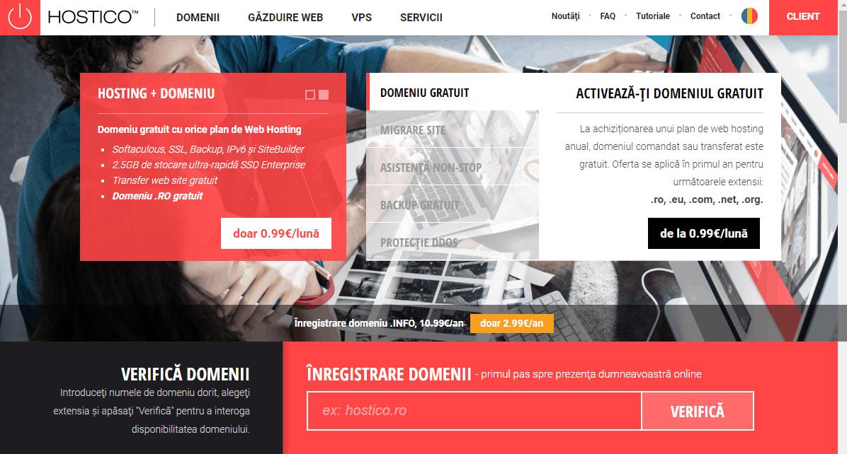 Recenzie găzduire web Hostico