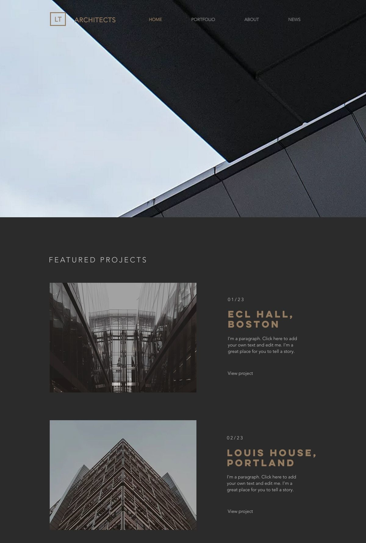 6 Best Wix Templates For Architect Websites-image1
