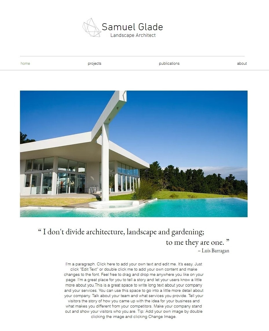 6 Best Wix Templates For Architect Websites 2019 Top Designs