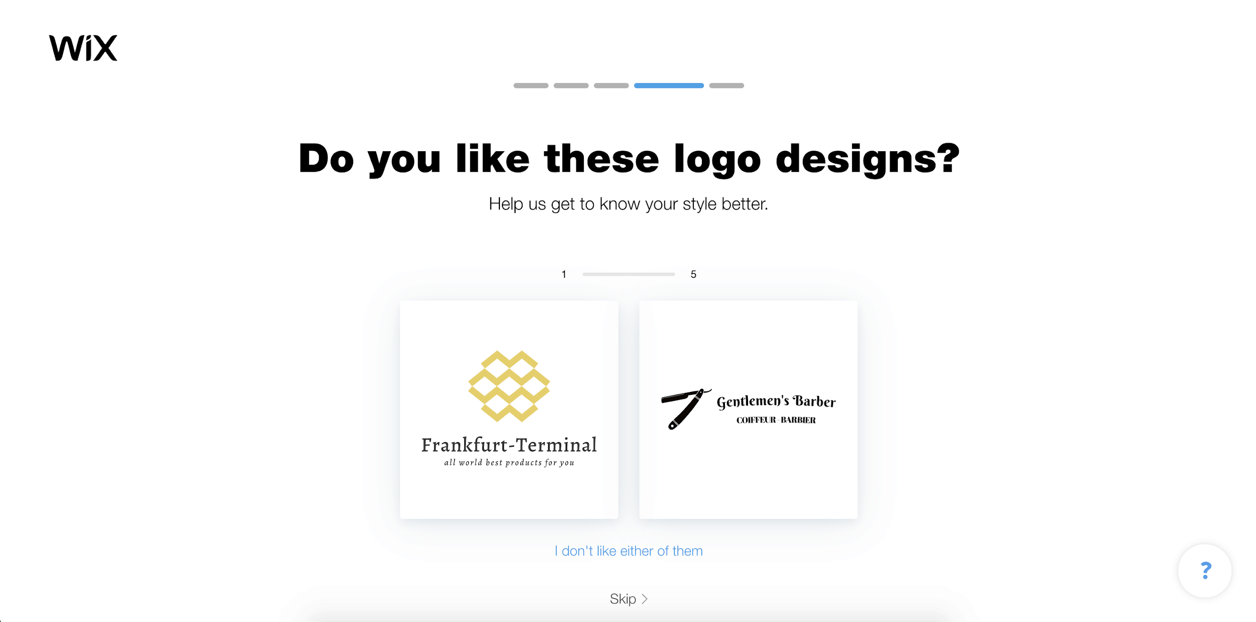 Wix Logo Maker screenshot - Choose your favorite designs