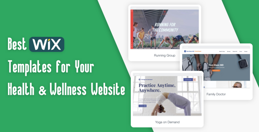 6 Best Wix Templates For Health and Wellness Blogs & Business Sites