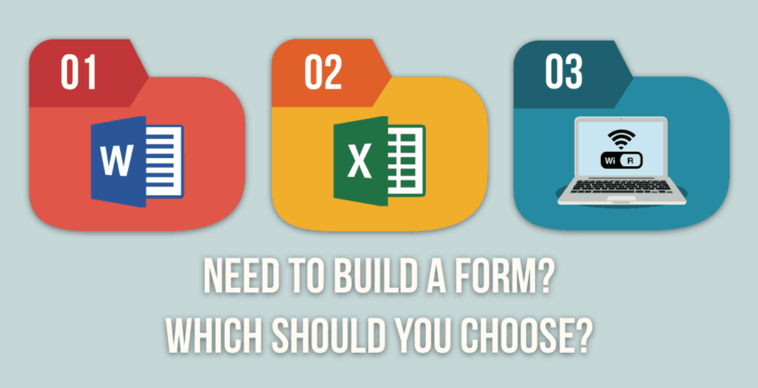 Building a Form with Excel, Word, or Online—Which Is Best?