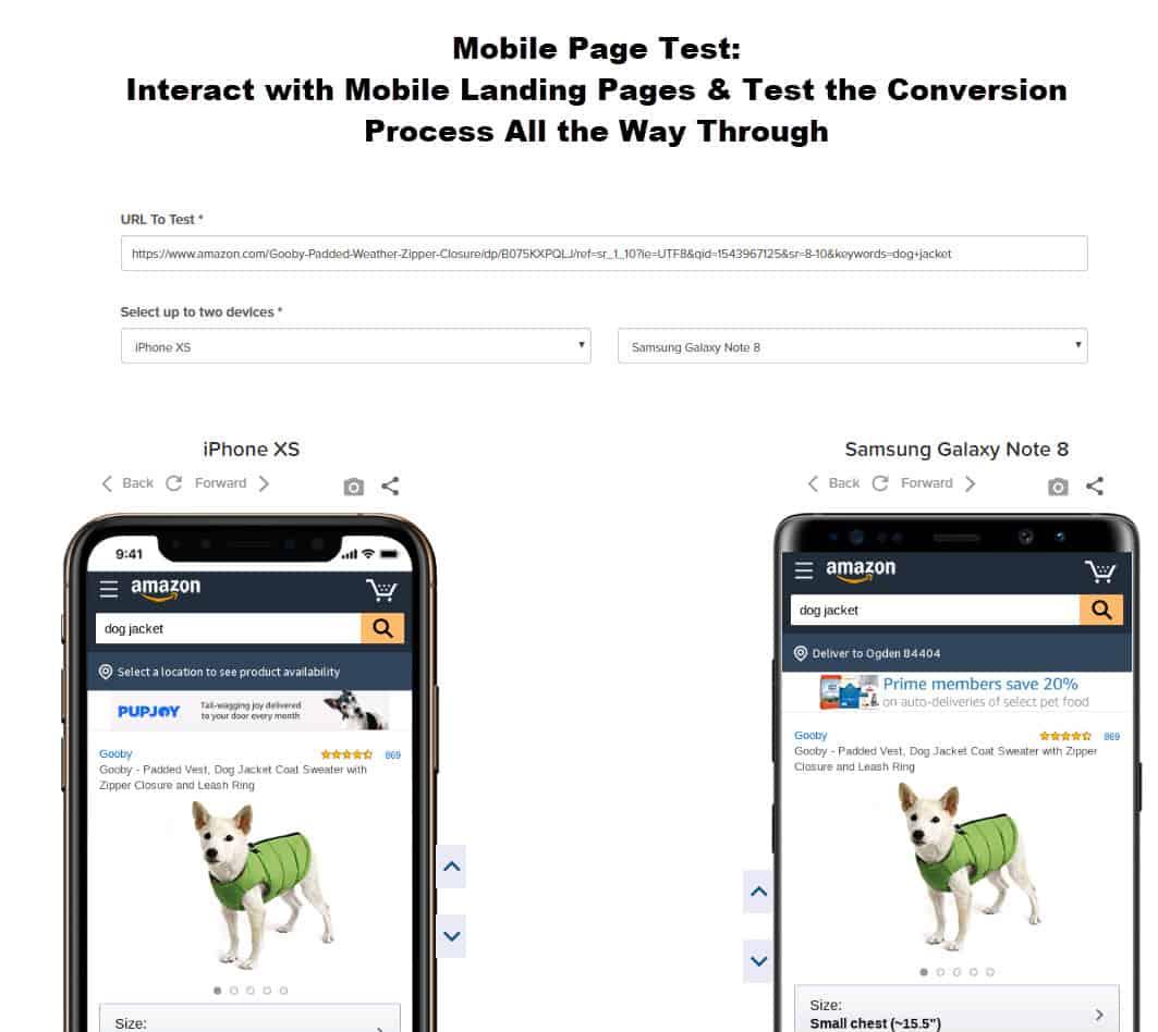 MOXIE Page-TestScreenShot