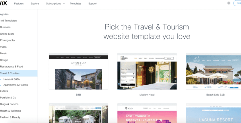 10 Best Wix Templates for Travel Websites in 2019