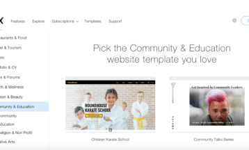 10 Best Wix Templates for Community and Education Websites
