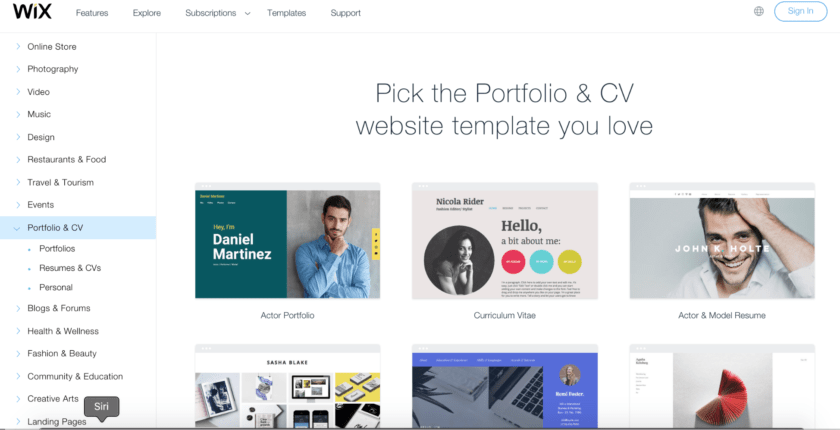 ad4595cb1f212 10 Best Wix Templates for Your Portfolio and Resume Website