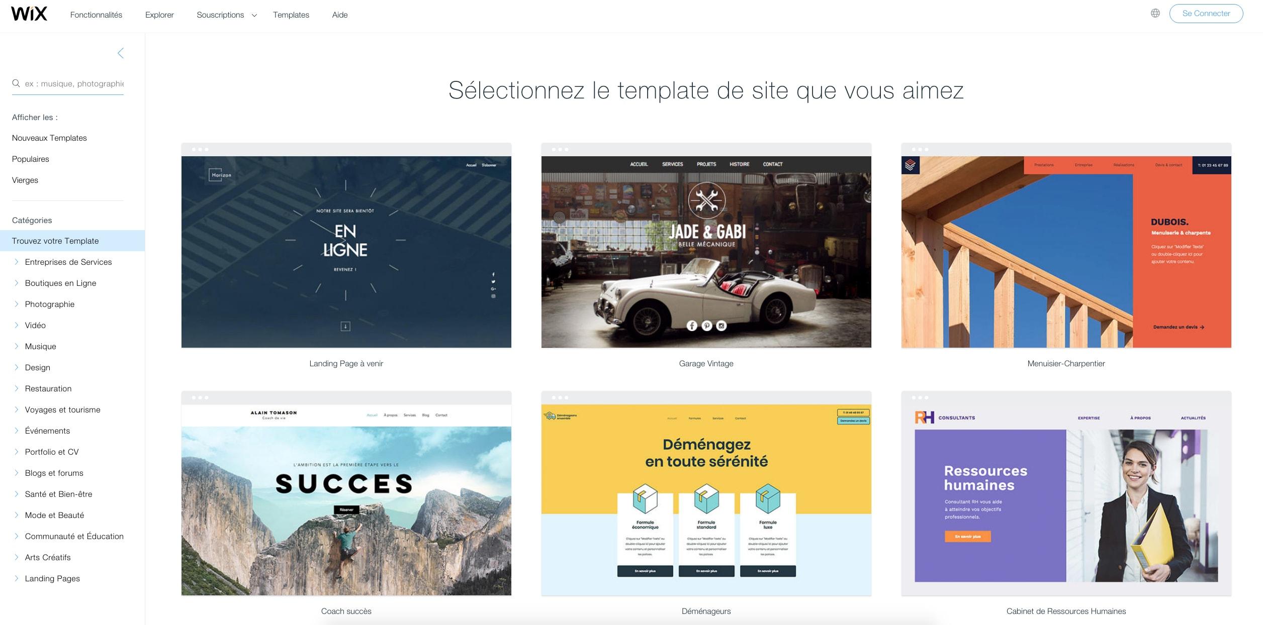 wix-templates-fr
