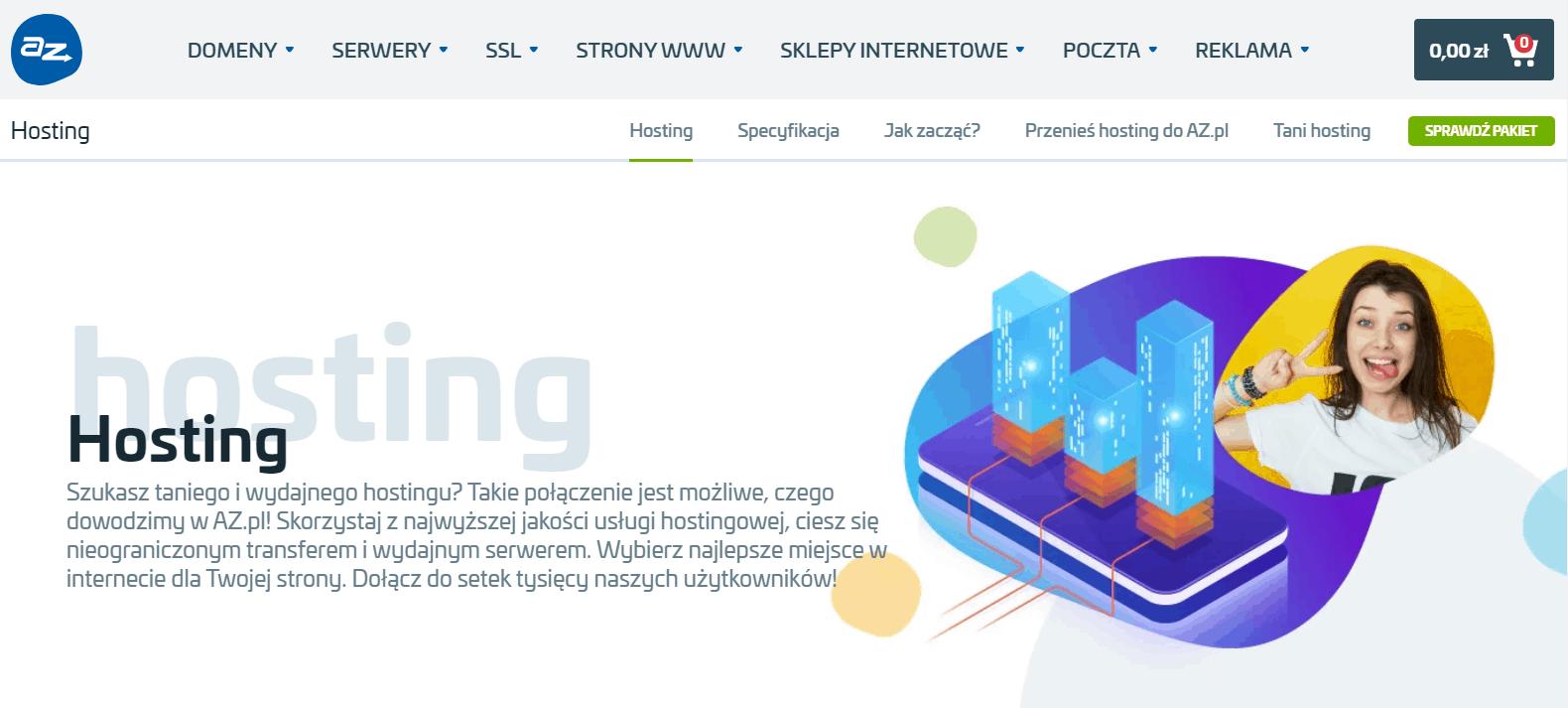 zrzut ekranu strony głównej az.pl