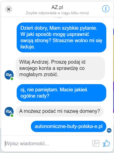wiadomość az.pl