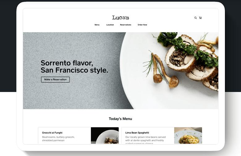 Square Online restaurant templates