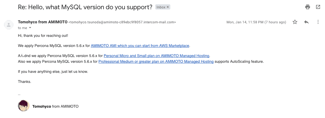 AMIMOTO-support