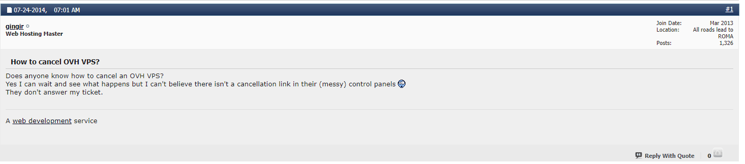 OVH cancelation forum