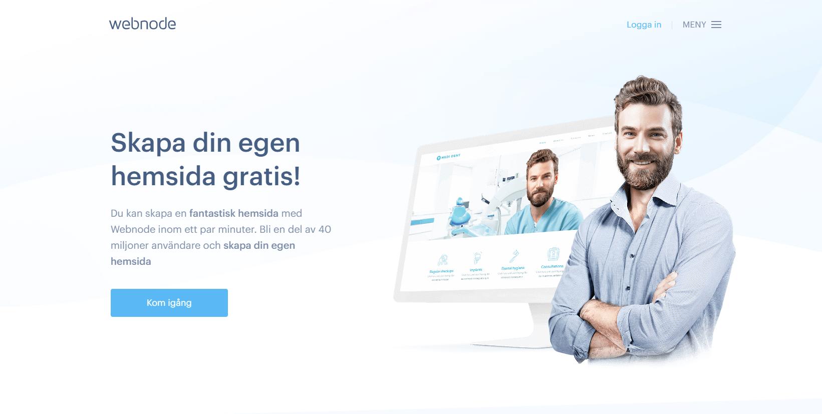 Webnode homepage