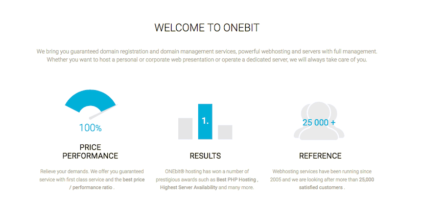 ONEbit hosting