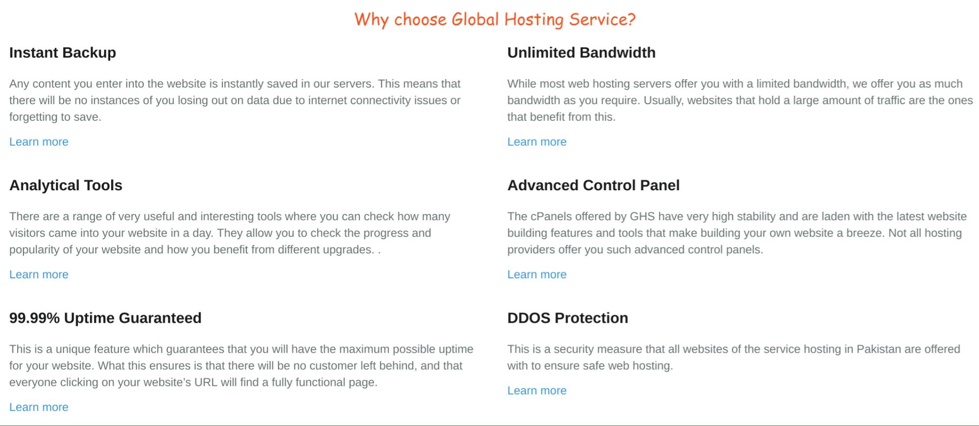 Global Hosting Service