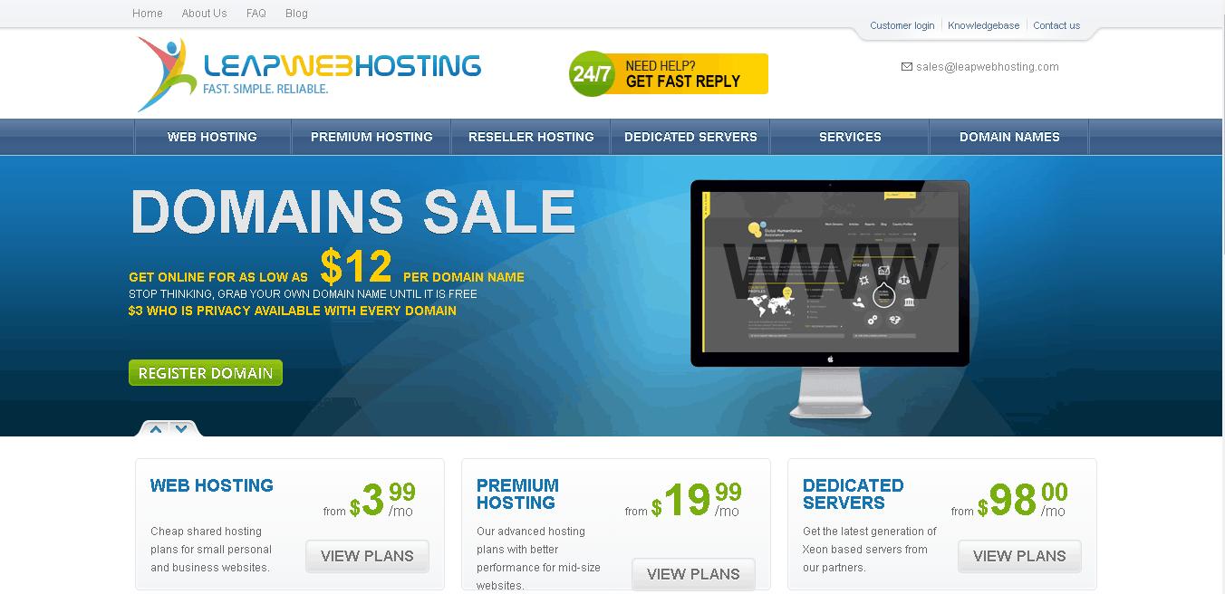 leapwebhosting main
