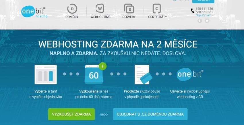 ONEbit hosting přehled českých poskytovalů webhostingů