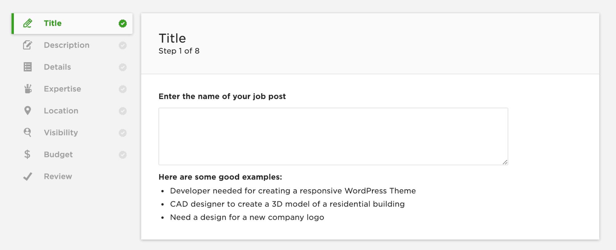 posting a job on upwork