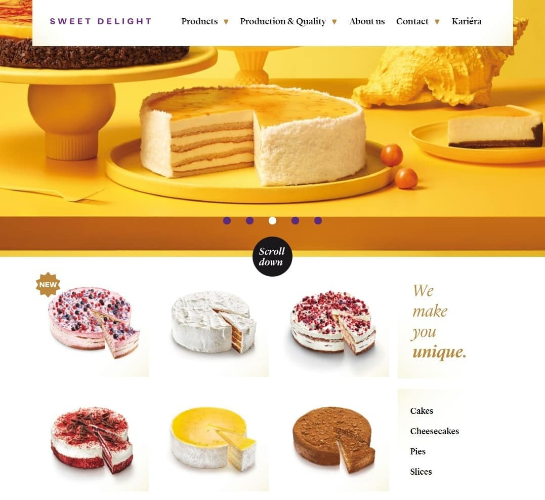 Sweet Delight Bakery Website