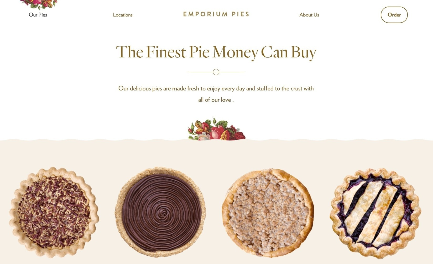 Emporium Pies Bakery Website