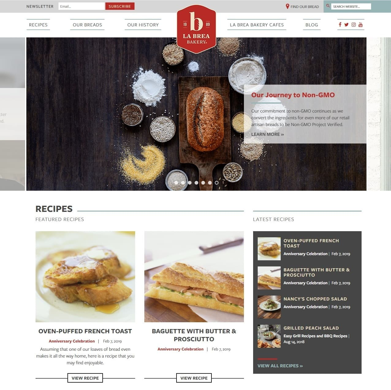 La Brea Bakery Website