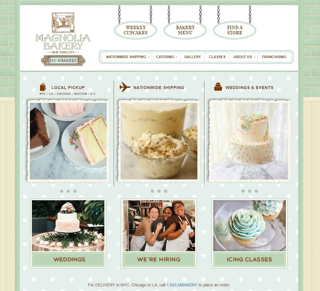 Magnolia Bakery Website