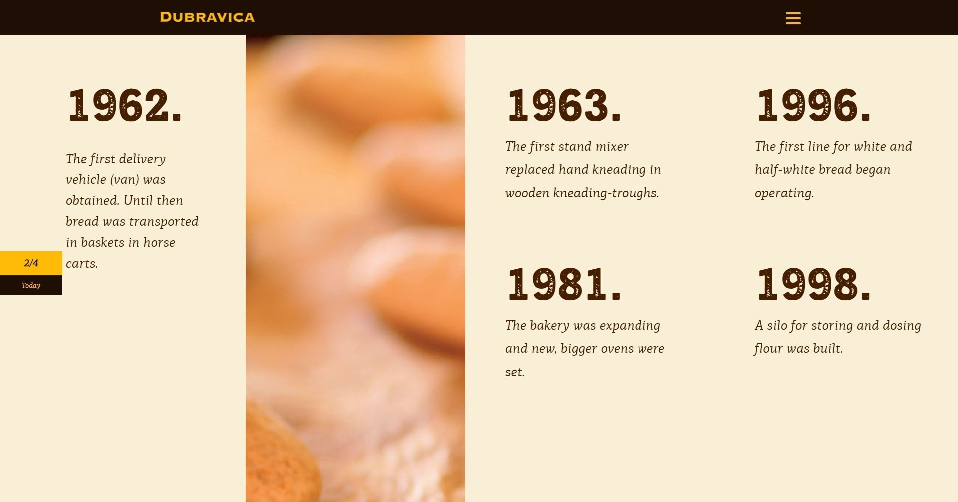 Pekara Dubravica Bakery Website