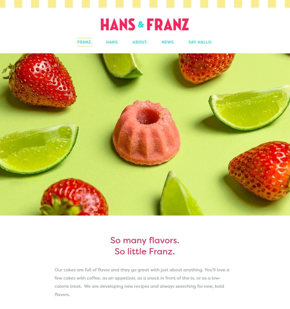 Hans & Franz Bakery Website