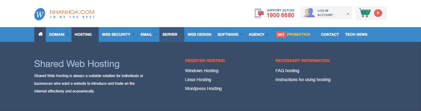 NHANHOA.COM features