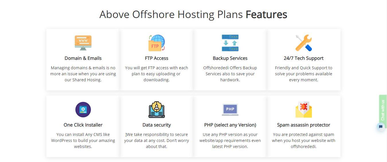 OffshoreDedi features