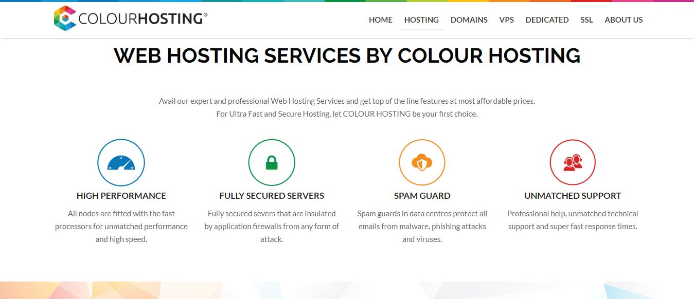 COLOUR HOSTING features